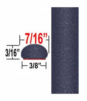 """7/16"""" Wide Galactic Aqua, Cosmic Gray Wheel Molding Trim 1H2 ( CP91 ), Sold by the Foot, ColorTrim Plastics® # 20-91"""