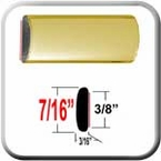 """7/16"""" Wide Gold Wheel Molding Trim Sold by the Foot, Cowles® # 37-533"""