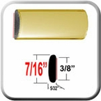 "7/16"" Wide Gold Wheel Molding Trim Sold by the Foot, Cowles® # 37-533"