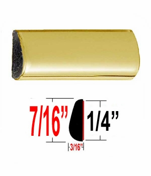 """7/16"""" Wide Gold Wheel Molding Trim Sold by the Foot, Trim Gard® # 306"""