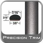 "7/16"" Wide Gray (Dark) Fender Trim ( PT24 ), Sold by the Foot, Precision Trim® # 2150-24-01"
