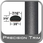 "7/16"" Wide Gray (Dark) Fender Trim ( PT49 ), Sold by the Foot, Precision Trim® # 2150-49-01"