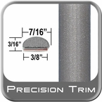"7/16"" Wide Gray (Light) Wheel Molding Trim ( PT91 ), Sold by the Foot, Precision Trim® # 2150-91-01"