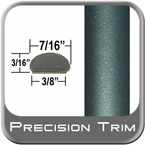 "7/16"" Wide Dark Green Wheel Molding Trim ( PT78 ), Sold by the Foot, Precision Trim® # 2150-78"