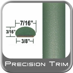 "7/16"" Wide Green Wheel Molding Trim ( PT15 ), Sold by the Foot, Precision Trim® # 2150-15-01"