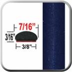"7/16"" Wide Indigo Ink Wheel Molding Trim 8P4 ( CP22 ), Sold by the Foot, ColorTrim Plastics® # 20-22"