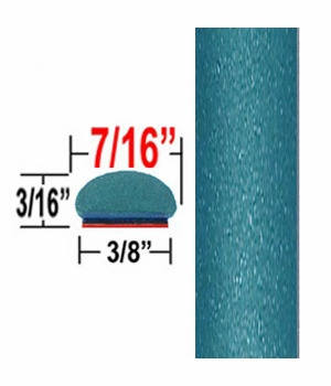 "7/16"" Wide Light Blue-Green Metallic Wheel Molding Trim ( CP76 ), Sold by the Foot, ColorTrim Plastics® # 20-76"