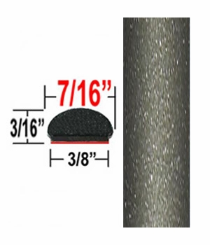 """7/16"""" Wide Light Olive Metallic Wheel Molding Trim ( CP64 / PT57 ), Sold by the Foot, ColorTrim Plastics® # 20-64"""