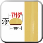 "7/16"" Wide Light Yellow/Green Wheel Molding Trim ( CP84 ), Sold by the Foot, ColorTrim Plastics® # 20-84"