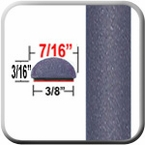 "7/16"" Wide Medium Slate Gray Metallic Wheel Molding Trim ( CP66 ), Sold by the Foot, ColorTrim Plastics® # 20-66"