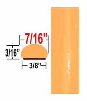 """7/16"""" Wide Orange Wheel Molding Trim ( CP95 ), Sold by the Foot, ColorTrim Plastics® # 20-95"""