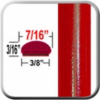 "7/16"" Wide Radiant Red Wheel Molding Trim 3L5 ( CP42 ), Sold by the Foot, ColorTrim Plastics® # 20-42"