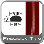 "7/16"" Wide Red (Dark) Wheel Molding Trim ( PT31 ), Sold by the Foot, Precision Trim® # 2150-31-01"