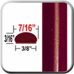 "7/16"" Wide Salsa Red Wheel Molding Trim 3Q3 ( CP39 ), Sold by the Foot, ColorTrim Plastics® # 20-39"