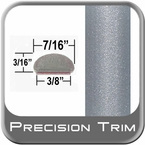 "7/16"" Wide Silver Fender Trim ( PT37 ), Sold by the Foot, Precision Trim® # 2150-37-01"