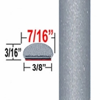 "7/16"" Wide Silver Metallic Wheel Molding Trim 1D6 ( CP10 ), Sold by the Foot, ColorTrim Plastics® # 20-10"