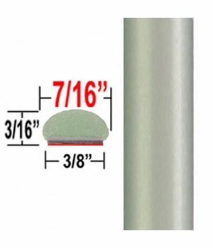 "7/16"" Wide Silver Pine Wheel Molding Trim 6U0 ( CP36 ), Sold by the Foot, ColorTrim Plastics® # 20-36"
