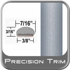 "7/16"" Wide Silver Wheel Molding Trim ( PT22 ), Sold by the Foot, Precision Trim® # 2150-22-01"