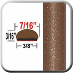 "7/16"" Wide Sunset Bronze Wheel Molding Trim 4U3 ( CP71 ), Sold by the Foot, ColorTrim Plastics® # 20-71"