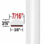 """7/16"""" Wide Super White Wheel Molding Trim 040 ( CP13 / PT59 ), Sold by the Foot, ColorTrim Plastics® # 20-13"""
