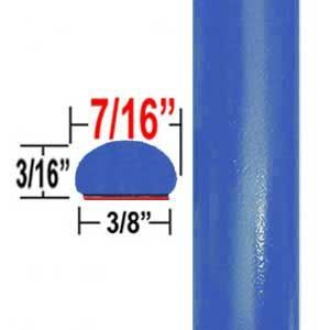 """7/16"""" Wide VooDoo Blue Wheel Molding Trim 8T6 ( CP100 ), Sold by the Foot, ColorTrim Plastics® # 20-100"""