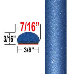 "7/16"" Wide Blue Eclipse, Blue Streak, Blazing Blue Wheel Molding Trim 8T7, 8T0 ( CP27 ), Sold by the Foot, ColorTrim Plastics® # 20-27"