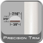 "7/16"" Wide White Fender Trim ( PT17 ), Sold by the Foot, Precision Trim® # 2150-17"