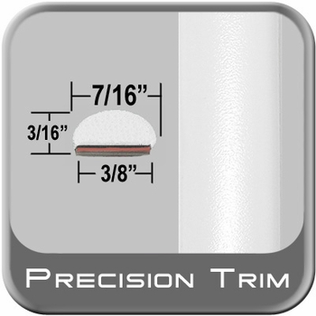 """7/16"""" Wide White Fender Trim ( PT59 ), Sold by the Foot, Precision Trim® # 2150-59"""
