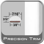 "7/16"" Wide White Wheel Molding Trim ( PT12 ), Sold by the Foot, Precision Trim® # 2150-12-01"