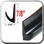 "7/8"" Tall Black Drip Rail Molding Sold by the Foot, Trim Gard® # WRT02-01"