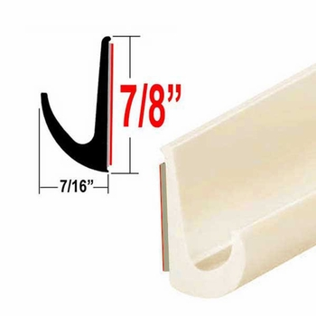 """7/8"""" Tall Off White Drip Rail Molding Sold by the Foot, Trim Gard® # WRT44"""
