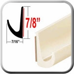 """7/8"""" Tall Off White Drip Rail Molding Sold by the Foot, Trim Gard® # WRT44-01"""
