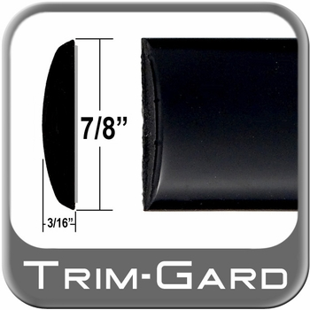 "7/8"" Wide Black (Gloss) Body Side Molding Sold by the Foot, Trim Gard® # CM44-02"