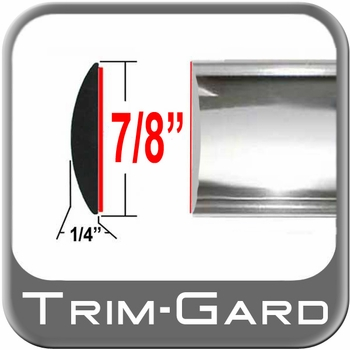 """7/8"""" Wide Chrome Body Side Molding Sold by the Foot, Trim Gard® # BT01"""