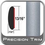 "7/8"" Wide Silver Molding Trim ( PT22 ), Sold by the Foot, Precision Trim® # 40100-22-01"