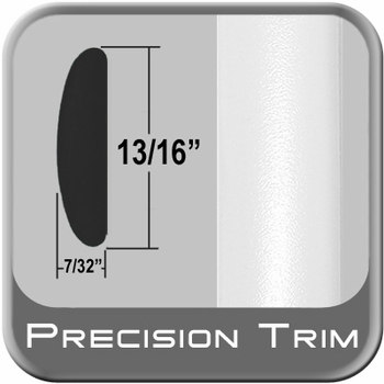 """7/8"""" Wide White Molding Trim ( PT59 ), Sold by the Foot, Precision Trim® # 40100-59-01"""