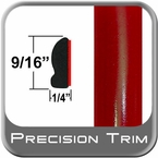 "9/16"" Wide Absolute Red Wheel Molding Trim 3P0 ( CP16 ), Sold by the Foot, ColorTrim Plastics® # 30-16"