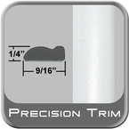 "9/16"" Wide Arctic Frost Wheel Molding Trim ( PT73 ), Sold by the Foot, Precision Trim® # 9150-73"