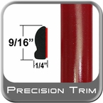 "9/16"" Wide Barcelona Red Wheel Molding Trim 3R3 ( CP19 ), Sold by the Foot, ColorTrim Plastics® # 30-19"