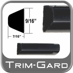 """9/16"""" Wide Black Body Side Molding Sold by the Foot, Trim Gard® # 602-01"""