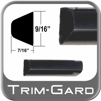 """9/16"""" Wide Black Body Side Molding Sold by the Foot, Trim Gard® # 602"""
