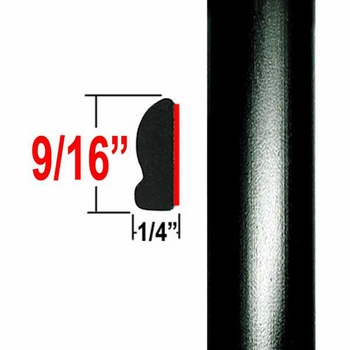 """9/16"""" Wide Black Wheel Molding Trim 202, 209 ( CP20 / PT60 ), Sold by the Foot, ColorTrim Plastics® # 30-20"""