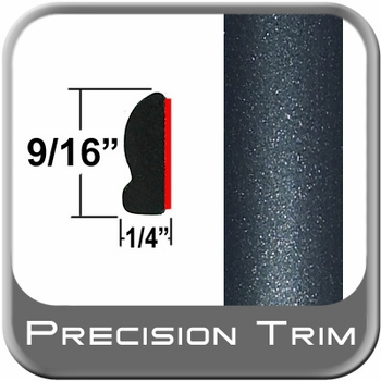 "9/16"" Wide Dark Green Gray Metallic Wheel Molding Trim ( PT27 ), Sold by the Foot, Precision Trim® # 9150-27"
