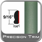 "9/16"" Wide Green Wheel Molding Trim ( PT15 ), Sold by the Foot, Precision Trim® # 9150-15-01"