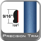 "9/16"" Wide Medium Blue-Green Metallic Wheel Molding Trim ( PT07 ), Sold by the Foot, Precision Trim® # 9150-07"