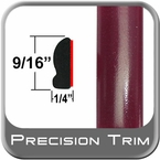 "9/16"" Wide Ohh La La Rouge Wheel Molding Trim 3T0 ( CP28 ), Sold by the Foot, ColorTrim Plastics® # 30-28"