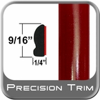 "9/16"" Wide Salsa Red Wheel Molding Trim 3Q3 ( CP39 ), Sold by the Foot, ColorTrim Plastics® # 30-39"