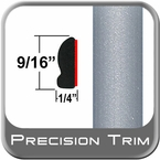 "9/16"" Wide Silver Metallic Wheel Molding Trim 1D6 ( PT22 ), Sold by the Foot, Precision Trim® # 9150-22"