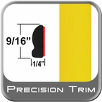 "9/16"" Wide Yellow Wheel Molding Trim ( PT46 ), Sold by the Foot, Precision Trim® # 9150-46-01"