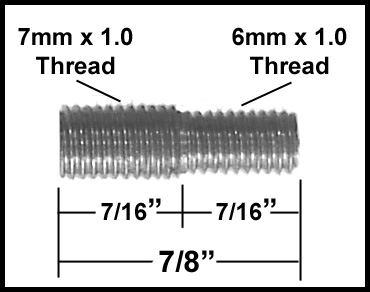 All Sales Antenna Adapter For AMI Billet Antennas 6mm Male x 7mm Male Sold Individually #6202